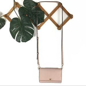 Michael Kors Blush Pink Crossbody Wallet Leather